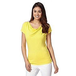 The Collection - Yellow cowl neck jersey top
