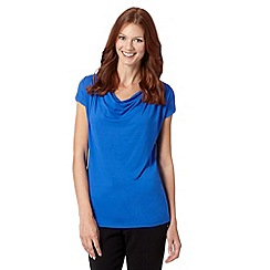 The Collection Petite - Petite blue plain cowl neck top