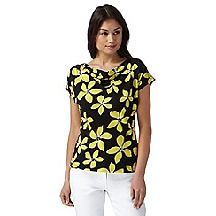 The Collection - Lime floral print cowl top