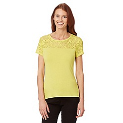 The Collection - Lime rose lace top