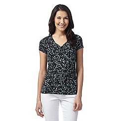 The Collection Petite - Petite black spotted ruched top