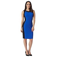 The Collection - Royal blue jacquard ponte dress