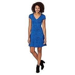 The Collection - Blue floral skater skirt dress