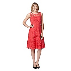 The Collection - Coral lace prom dress