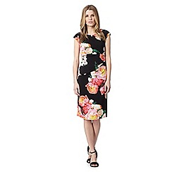 The Collection Petite - Petite black vintage bloom dress
