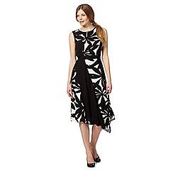 The Collection - Black asymmetric print dress