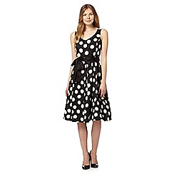 The Collection - Black spotted print prom dress