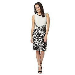 The Collection - White agapanthus shift dress
