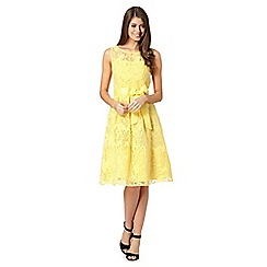 The Collection - Yellow floral flared dress