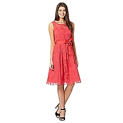 The Collection - Coral floral flared dress
