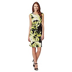The Collection Petite - Petite black bloom graphic print dress