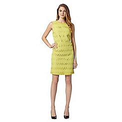 The Collection - Lime broderie lace shift dress