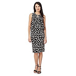 The Collection - Black mini floral dress