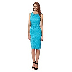The Collection - Turquoise lace shift dress