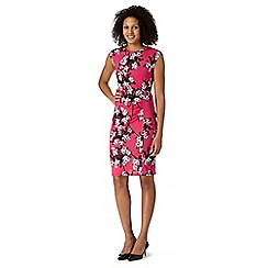 The Collection Petite - Petite coral shadow floral D-ring belt dress