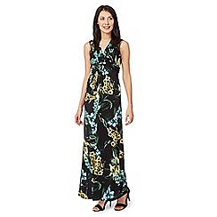 The Collection Petite - Petite black tiger lilly maxi dress