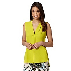 The Collection - Lime soft V neck top