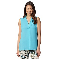 The Collection - Bright turquoise soft V neck top