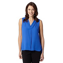 The Collection - Royal blue chiffon V neck top