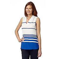 The Collection - Royal striped V neck top