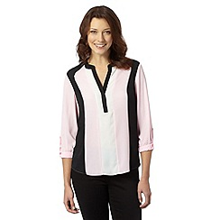 The Collection - Pale pink colour block panel top