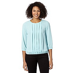 The Collection - Pale blue pleated bubble hem top