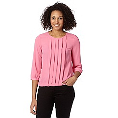 The Collection Petite - Petite bright pink pleated bubble hem top