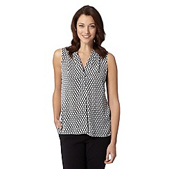 The Collection Petite - Petite black capsule print chiffon top