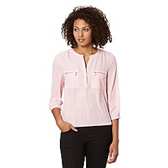 The Collection - Pale pink zip pocket top