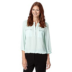 The Collection - Pale green zip pocket top