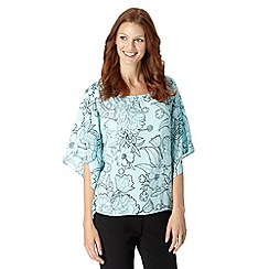 The Collection - Pale blue floral kimono top