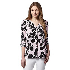 The Collection - Pink 3/4 length sleeved print top