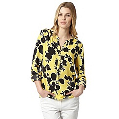 The Collection - Yellow shadow floral shirt