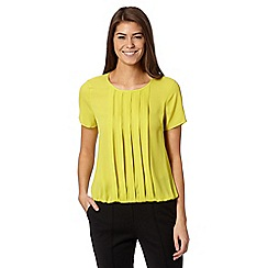The Collection - Lime pleat front top