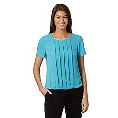 The Collection Petite - Petite turquoise pleat front top