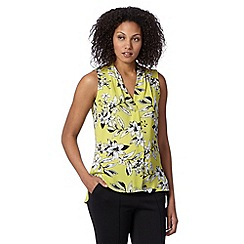 The Collection - Lime floral print top