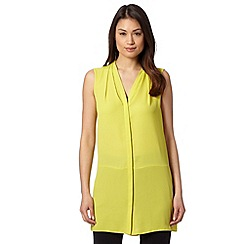 The Collection - Lime longline crepe shirt