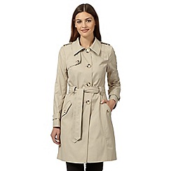 The Collection - Natural self tie mac coat