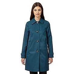 The Collection Petite - Dark turquoise cocoon coat