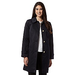 The Collection - Navy cocoon coat
