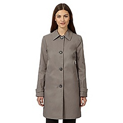 The Collection Petite - Taupe cocoon coat