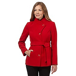 The Collection - Red belted lapel collar coat
