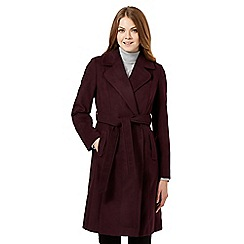 The Collection - Purple wrap coat