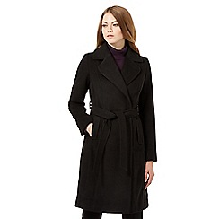 The Collection - Black wrap coat