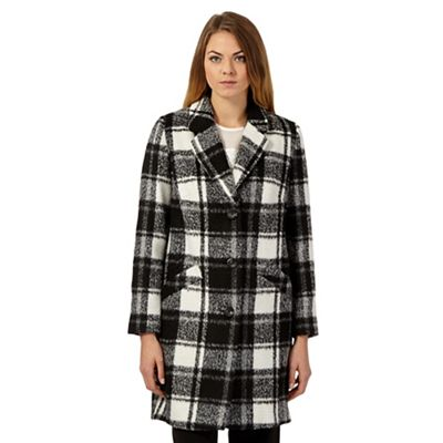 The Collection Black and white checked winter coat - . -