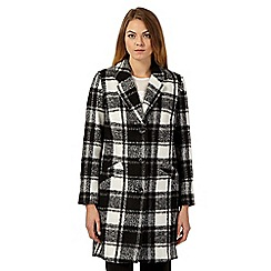 The Collection Petite - Black and white checked winter coat
