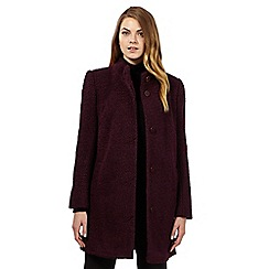 The Collection - Purple buttoned boucle coat