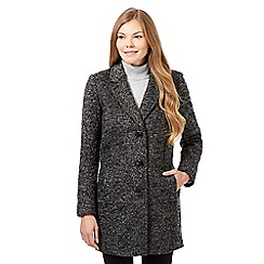 The Collection Petite - Grey boucle coat