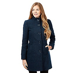 The Collection Petite - Teal boucle coat