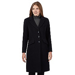 The Collection Petite - Navy cashmere blend petite coat